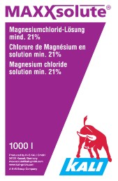 The MAXXsolute-label for the IBC. (photograph: K+S KALI GmbH)